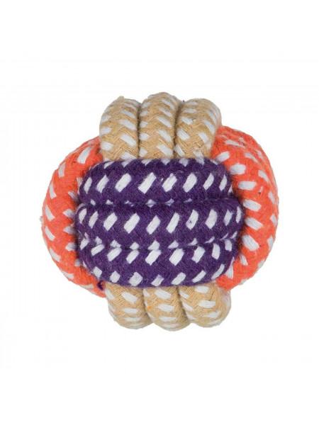 Игрушка для собак Trixie Мяч плетёный d=6 см (текстиль)