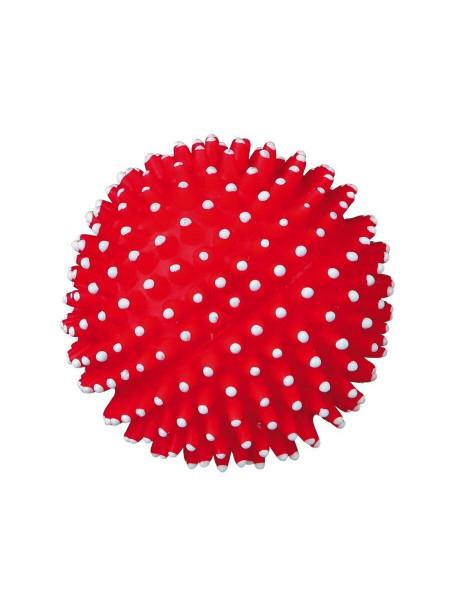 Игрушка для собак Trixie Мяч игольчатый с пищалкой d=7 см (винил, цвета в ассортименте) - 3411