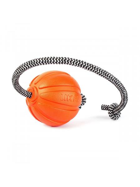 Игрушка для собак Collar Мяч со шнуром «Liker Cord 7» (Лайкер Корд) 30 см, d=7 см (вспененный полимер)