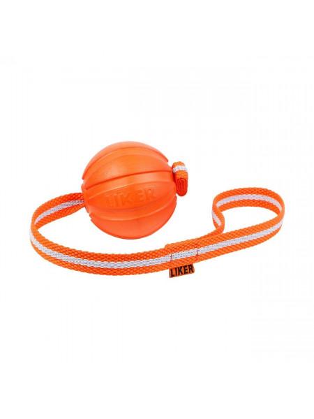Игрушка для собак Collar Мяч на ленте «Liker Line 9» (Лайкер Лайн) d=9 см (вспененный полимер)