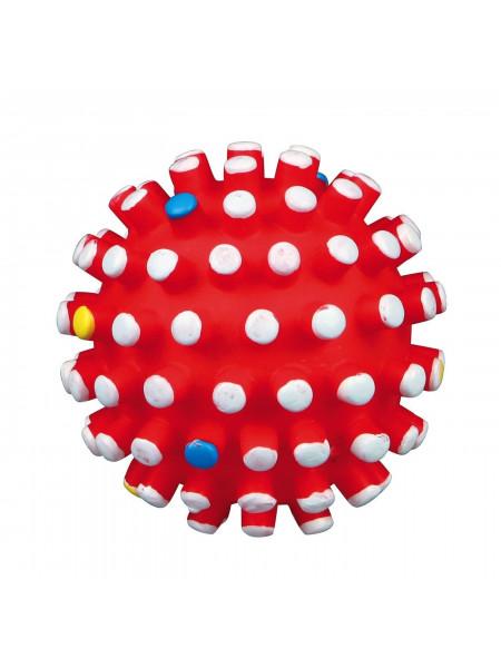 Игрушка для собак Trixie Мяч игольчатый с пищалкой d=6 см (винил, цвета в ассортименте)