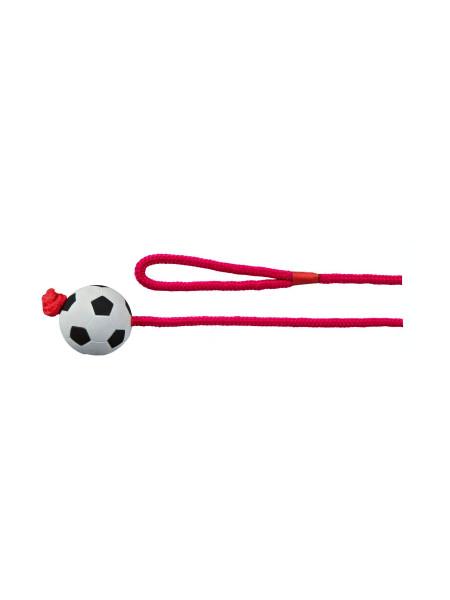 Игрушка для собак Trixie Мяч на верёвке с ручкой 1 м, d=6 см (вспененная резина)