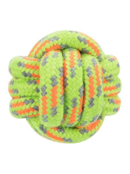 Игрушка для собак Trixie Мяч плетёный d=6 см (текстиль, цвета в ассортименте)