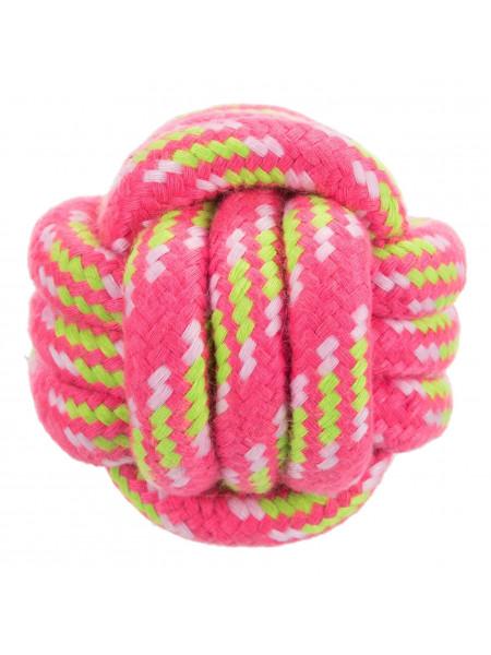 Игрушка для собак Trixie Мяч плетёный d=9 см (текстиль, цвета в ассортименте)