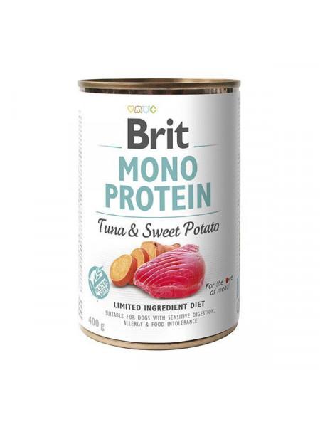 Влажный корм для собак Brit Mono Protein Tuna & Sweet Potato 400 г (тунец и батата)