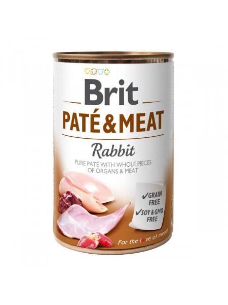 Влажный корм для собак Brit Pate & Meat Rabbit 400 г (курица и кролик)