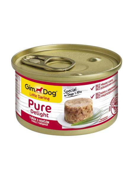 Влажный корм для собак GimDog LD Pure Delight 85 г (тунец и говядина)
