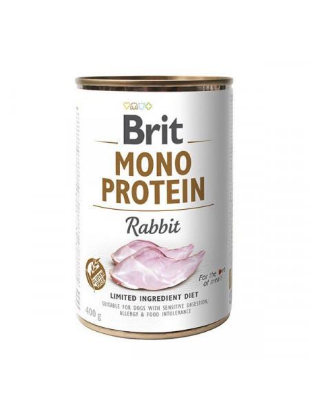 Влажный корм для собак Brit Mono Protein Rabbit 400 г (кролик)