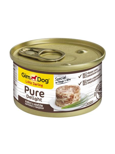 Влажный корм для собак GimDog LD Pure Delight 85 г (курица и говядина)