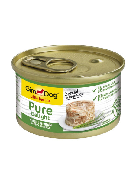 Влажный корм для собак GimDog LD Pure Delight 85 г (курица и ягненок)