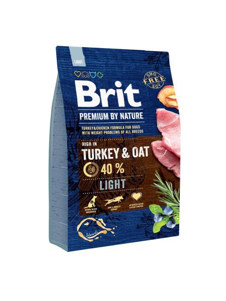 Сухой корм для собак с лишним весом Brit Premium Light 3 кг (курица)