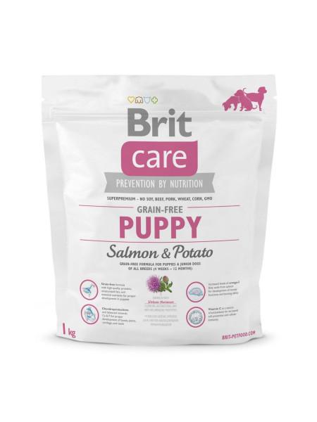 Сухой корм для щенков всех пород Brit Care GF Puppy Salmon & Potato 1 кг (лосось)
