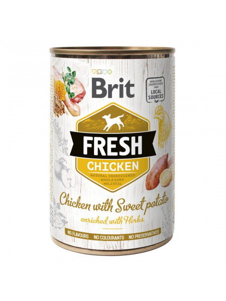 Влажный корм для собак Brit Fresh Chicken with Sweet Potato 400 г (курица)