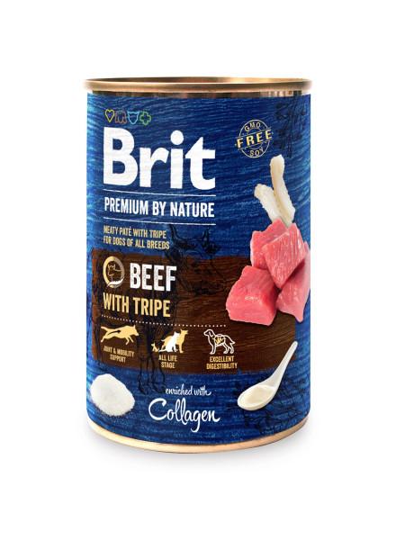 Влажный корм для собак Brit Premium By Nature Beef with Tripe 800 г (говядина)