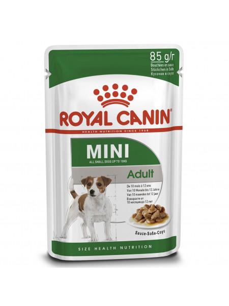 Влажный корм для взрослых собак мелких пород Royal Canin Mini Adult 85 г (домашняя птица)