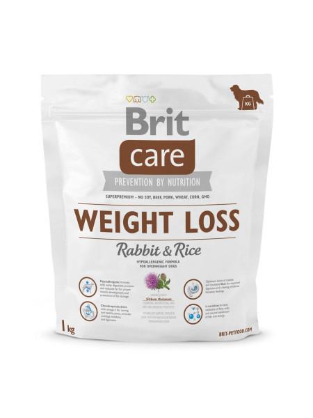 Сухой корм для собак с лишним весом Brit Care Weight Loss Rabbit & Rice 1 кг (кролик и рис)