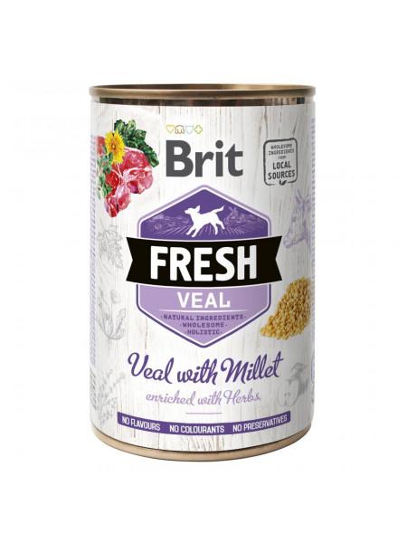 Влажный корм для собак Brit Fresh Veal with Millet 400 г (телятина)