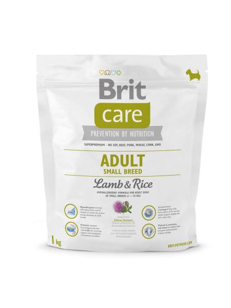 Сухой корм для взрослых собак мелких пород (весом до 10 кг) Brit Care Adult Small Breed Lamb & Rice 1 кг (ягненок и рис)