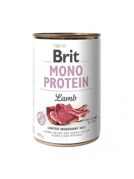 Влажный корм для собак Brit Mono Protein Lamb 400 г (ягнёнок)