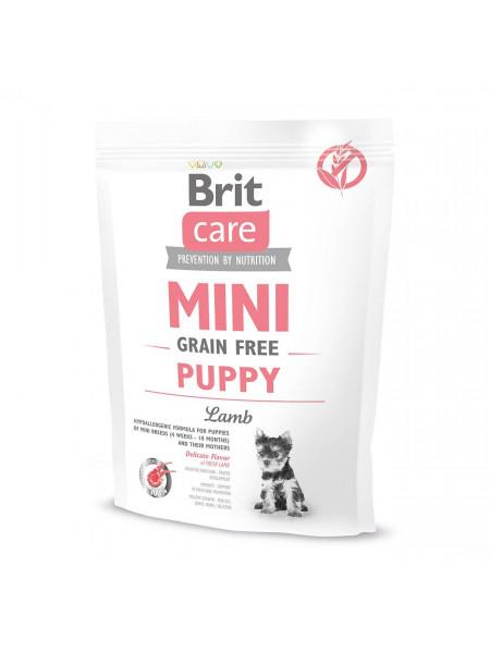 Сухой корм для щенков и молодых собак миниатюрных пород Brit Care Mini GF Puppy Lamb 400 г (ягненок)