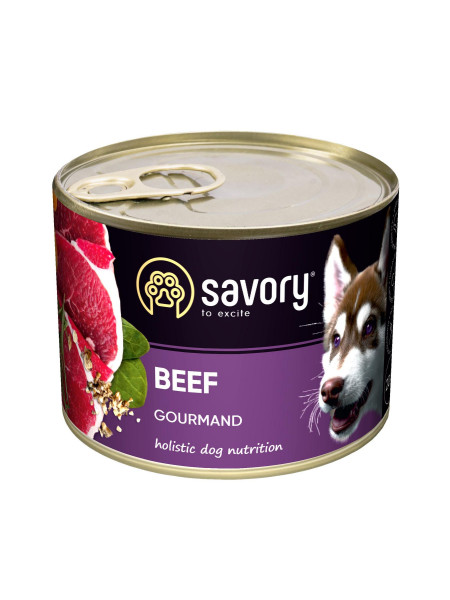 Влажный корм для взрослых собак Savory 200 г (говядина)