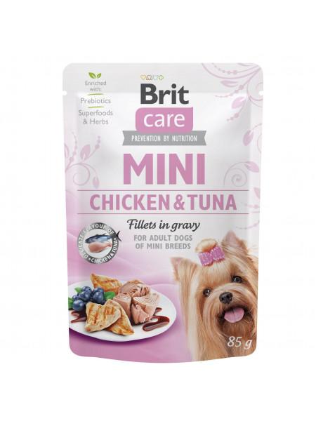 Влажный корм для собак Brit Care Mini pouch 85 g филе в соусе (курица и тунец)