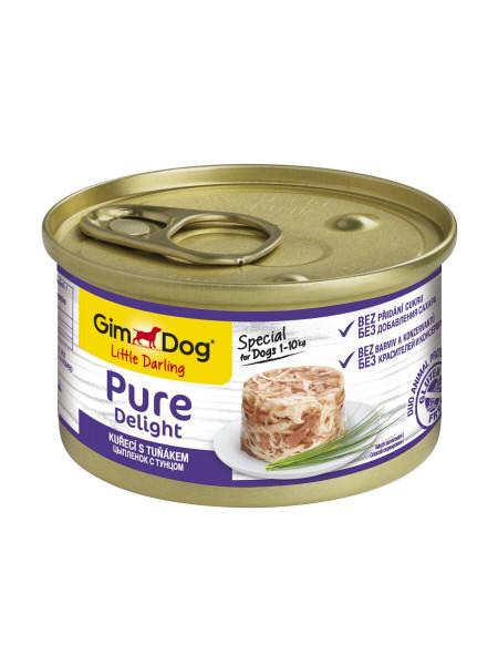 Влажный корм для собак GimDog LD Pure Delight 85 г (курица и тунец)