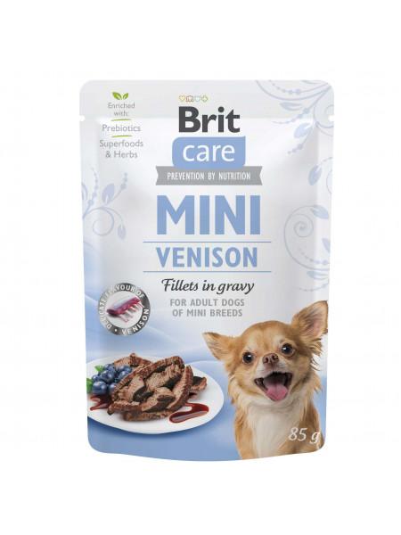 Влажный корм для собак Brit Care Mini pouch 85 g филе в соусе (дичь)