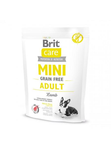 Сухой корм для взрослых собак миниатюрных пород Brit Care Mini GF Adult Lamb 400 г (ягненок)