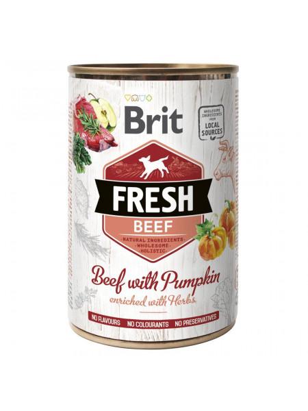 Влажный корм для собак Brit Fresh Beef with Pumpkin 400 г (говядина)