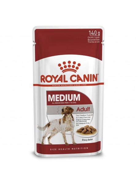 Влажный корм для взрослых собак средних пород Royal Canin Medium Adult 140 г (домашняя птица)