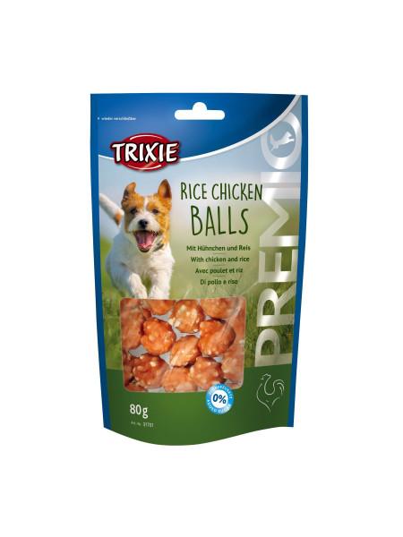 Лакомство для собак Trixie PREMIO Rice Chicken Balls 80 г (курица)