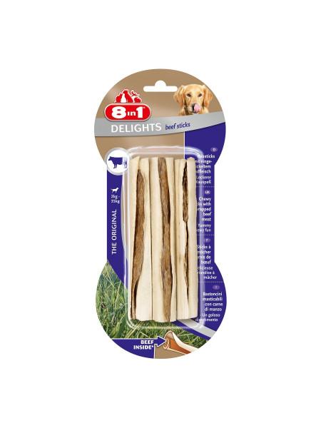 Лакомство для собак 8in1 Delights Палочка прессованная 13 см, 75 г / 3 шт. (говядина)