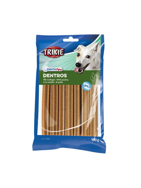 Лакомство для собак Trixie Denta Fun Dentros 180 г (домашняя птица)