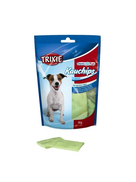 Лакомство для собак Trixie Пластинки для чистки зубов со спирулиной Denta Fun 50 г