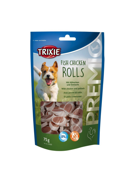 Лакомство для собак Trixie PREMIO Chicken and Pollock Rolls 75 г (курица и лосось)