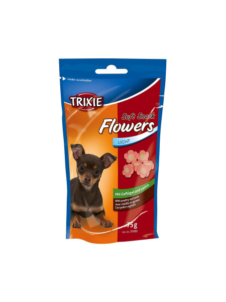 Лакомство для собак Trixie «Flowers» 75 г (курица и ягненок)