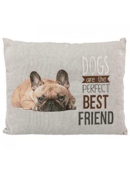 Подушка для собак Trixie «Chipo» с французским бульдогом 60 x 48 см (серая)