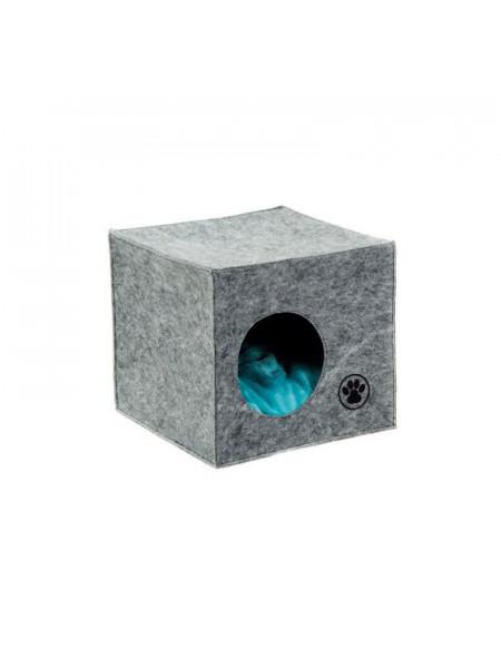Дом-Лежак Pet Fashion «Grey» 36 х 39 х 36 см (серый)