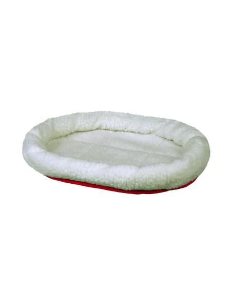 Лежак двухсторонний Trixie «Cuddly Bed» 47 см / 38 см (белый/красный)