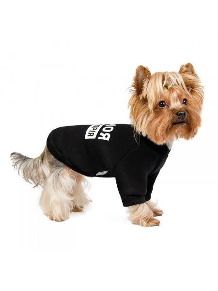 Толстовка для собак Pet Fashion «#Гав» XS (чёрная)