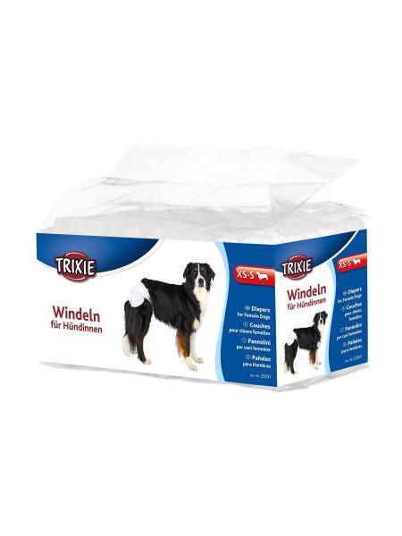 Подгузники для собак (девочек) Trixie 20-28 см XS-S 12 шт.