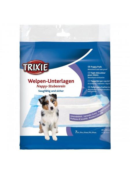 Пелёнки для собак Trixie с ароматом лаванды 40 x 60 см, 7 шт. (целлюлоза)