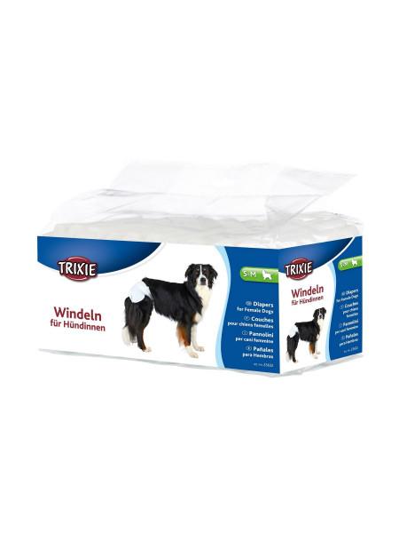 Подгузники для собак (девочек) Trixie 28-40 см S-M 12 шт.