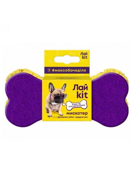 Губка-Кость LikeKit ддля мытья мисок собак и котов 15 см