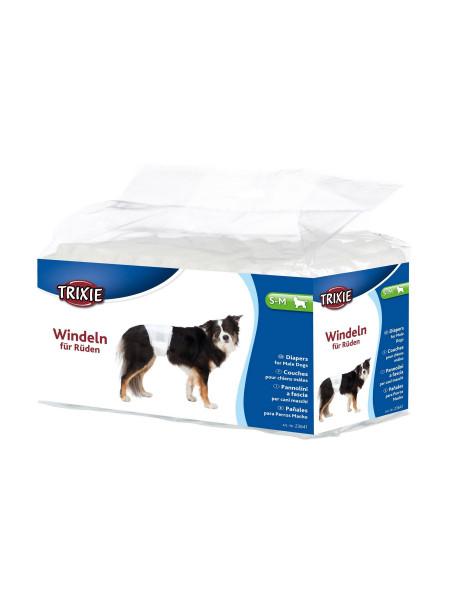 Подгузники для собак (девочек) Trixie 30-46 см S-M 12 шт.