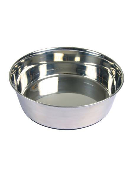 Миска металлическая Trixie на резиновом основании 2,5 л / 24 см