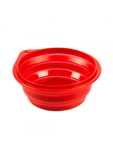 Миска Duvo+ для путешествий силиконовая 250 мл / 11 см (красная)