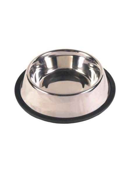 Миска металлическая Trixie на резиновой кромке 450 мл / 19 см