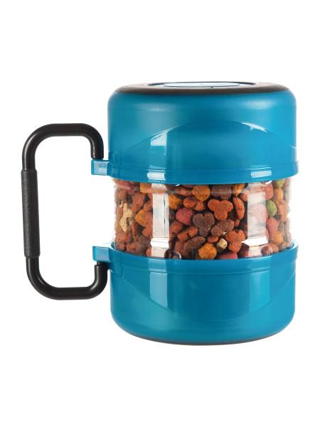 Набор дорожный Trixie контейнер для еды 2 л и 2 миски по 0,75 л (синий)
